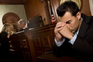Defendant in court room