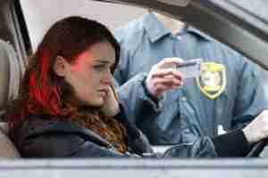 Woman receiving DUI