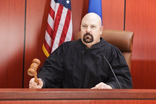 Judge on the bench