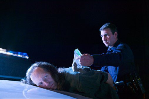 Man being arrested with drugs