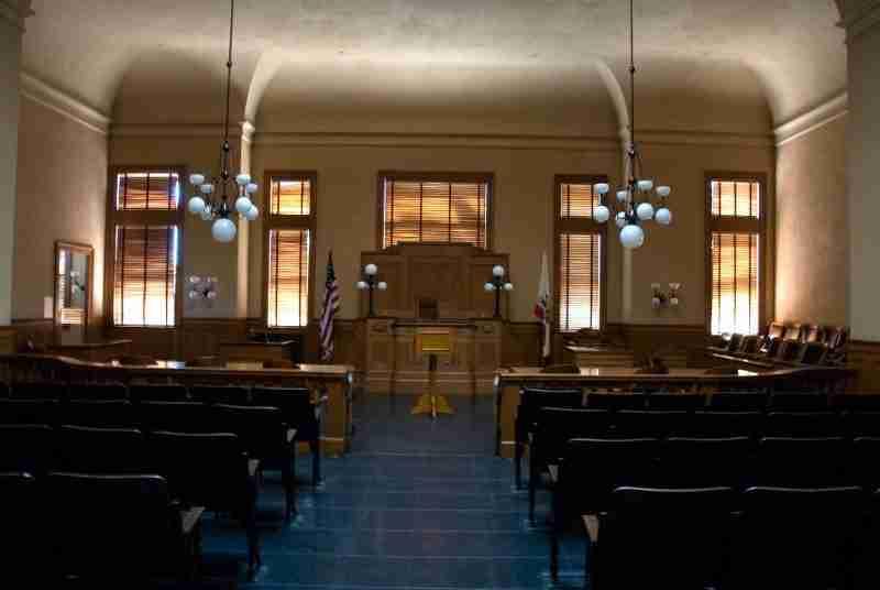 Inside of courtroom