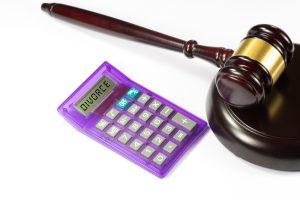Gavel and calculator