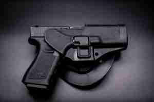 Gun in holster