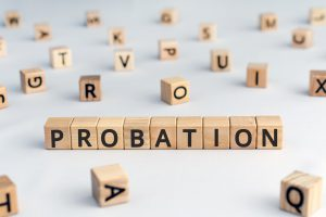 Probation written on blocks