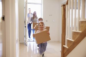 Children moving into house